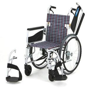 日進医療器 自走用 車椅子 NEO-1W   車いす 車イス くるまいす 背折れ 折り畳み 折りたたみ ノーパンクタイヤ ハイポリマータイヤ 介助ブレーキ付き バンド式ブレーキ アルミフレーム JISマー