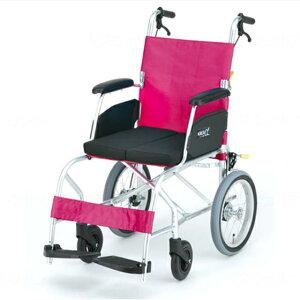日進医療器 介助用 軽量車椅子 KALU7α Cパッケージ | カルナナアルファ 車いす 車イス くるまいす 背折れ 軽量 折り畳み 折りたたみ 低反発座クッション エアタイヤ 介助ブレーキ付き ドラム
