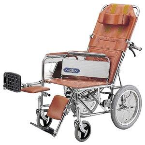 フルリクライニング スチール製 エレベーティング アームサポート着脱式 車椅子 日進医療器 nissin NDH-15 介助用 車イス 車いす くるまいす 施設 病院 背もたれ 楽な姿勢 角度を変える