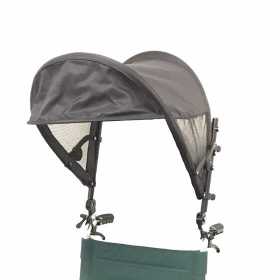車椅子用日よけ T-シェード | 車いす 日傘 日よけ 片山車椅子 サンシェード 日除け 日差し 紫外線 暑さ対策 取付簡単 UV対策