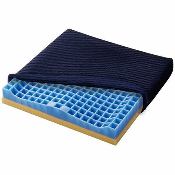 日本ジェル ピタシートクッション55 | 送料無料 車椅子クッション 厚クッション 前ずれ防止 体圧分散 ジェル ウレタン 洗える 通気性 清潔 疲れない お尻痛くない 耐久性 プレゼント 母の日