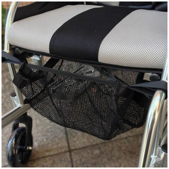 車椅子用アンダーネット | 車椅子 アンダーネット 荷物 小物入れ 便利グッズ 座面下 収納 小物 オプション品 ブラック 安い 尿パック 車いす 車イス メール便で送料無料