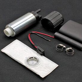 【即日発送】燃料ポンプ フューエルポンプ 255L/H 大容量 防音カバー付き 汎用 燃ポン GT-R R32 シルビア S13 S14 S15 ビート PP1 交換 補修 メンテナンス【送料無料】