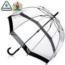 フルトン レディース 女性用 長傘 かさ 英国王室御用達 ドーム すっぽり ビニール スケルトン キュート チャーミング …
