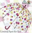 【子供用 傘】フルトン 長傘 かさ キッズ ドーム すっぽり ビニール スケルトン キュート ポップ ビビット バードケー…