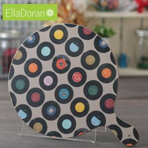 Ella Doran まな板 カッティングボード 英国製 Sevens Taupe UK デザイナー 36.5 x 27cm Made in UK Designer's Cutting Board 手作り レコード チョッピングボード ギフト 新築 子供 家 おうち 在宅 おしゃれ