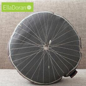 Ella Doran 英国製 クッション エラドラン 円型 UK デザイナー Made in UK Bike Wheel Black 43cm×43cm バイクホイールブラック 自転車 車輪 イギリス 雑貨 プレゼント ギフト 新生活 新居 引越し祝い 子供 クリスマス