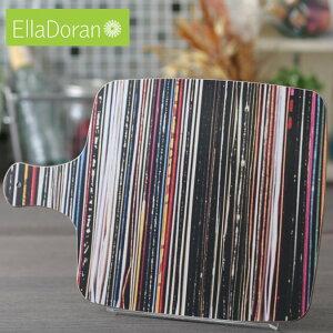 Ella Doran 英国製 カッティングボード まな板 UK デザイナー 36.5 x 25.5cm Made in UK Designer's Cutting Board Stacks and Stripes ストライプ レコード 手作り チョッピングボード ハンドメイド デザイン エラ ド