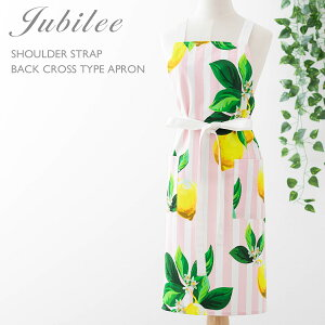 ジュビリー Jubilee フローラル 肩紐 バッククロス型 フラワー 花柄 コットン エプロン かわいい おしゃれ ブランド イギリス デザイナー 高級サテンコットン100% ギフト お祝い プレゼント 女
