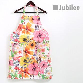 쥬비리 Jubilee 보타니카르콧톤에프론오렌지바렌타인이나 원 좋은 컬러풀 멋쟁이 브랜드 영국 디자이너 레이디스