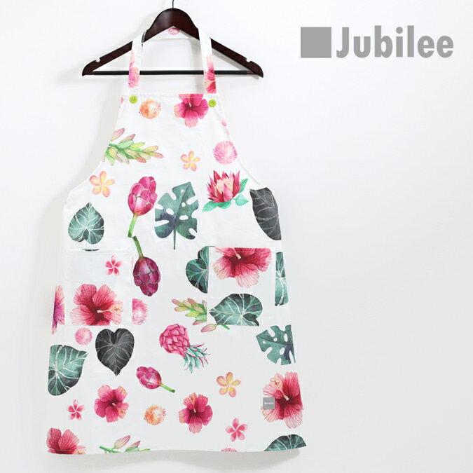 ジュビリー Jubilee ボタニカル コットン エプロン フラワー カラフル イギリス ブランド 高級サテンコットン100% ギフト 北欧デザイン  お祝い 引っ越し 新居 プレゼント ホワイトデー