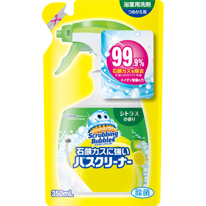 スクラビングバブル 石鹸カスに強いバスクリーナー シトラスの香り つめかえ用 350mL