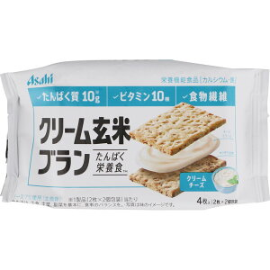アサヒF&H クリーム玄米ブラン クリームチーズ72g(2枚×2個) ウェルパーク