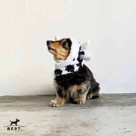 【スーパーSALE】愛犬用かぶりもの 牛さんのスヌード / かぶりもの 帽子 年賀状 干支 丑年 犬服 犬の服 犬 服 ドッグウェア 被り物 うし お正月