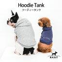 BF フードタンク / S,M,L,XL,XXL【犬服 犬の服 ドッグウェア】【夏 タンクトップ ノースリーブ 刺繍 綿 コットン 100% 犬 フード パーカー】