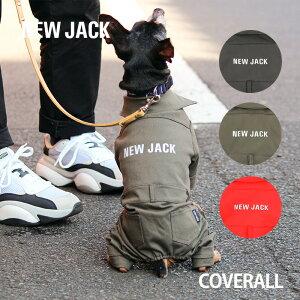 【NEW JACK】カバーオール ツナギ S,M,L,XL,XXL 3Color / 犬 服 犬の服 ロンパース つなぎ 3M リフレクター 反射 プリント YKK かわいい かっこいい おしゃれ ストリート ドッグウェア ブランド