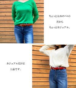 ベルト/メンズ/WELUCK日本製ビジカジベルト33゛栃木レザー