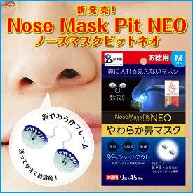 【PM2.5・花粉・飛沫ウィルス・黄砂・粉塵対策】news every スーパーJチャンネルで紹介[鼻水も吸収]ノーズマスクピットネオ9個 PM2.5など0.1μmの超微粒子を99%除去する見えないマスク!繰り返し洗って使えるエコタイプ![鼻マスク]ネコポス便でお届け。[N95規格]