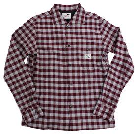 【2色有り】GANGSTERVILLE メンズ チェックシャツ 長袖シャツ 19AW29 THUG CHECK SHIRT