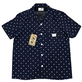 GLAD HAND GANGSTERVILLE ギャングスタービル メンズ 19ss29 ドット柄 シャツ 半袖 オープンシャツ 開襟 DIAMONDS S/S SHIRTS