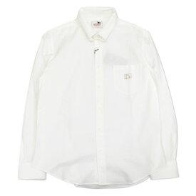 【残りLサイズのみ】GLAD HAND GANGSTERVILLE ギャングスタービル メンズ ピンホールカラー 長袖シャツ  ICED PINHOLE COLLAR - L/S SHIRTS 【GSV17AW27】 白色