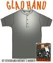 GLADHAND 【GH-07】スタンダード ヘンリーネック 半袖 黒色【HENRY S/S Tee BLACK】【パックT】07