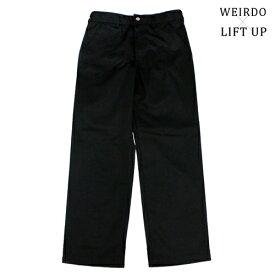glad hand WEIRDO × LIFT UP W&L【リフトアップ】ワークパンツ チノパン ブラック