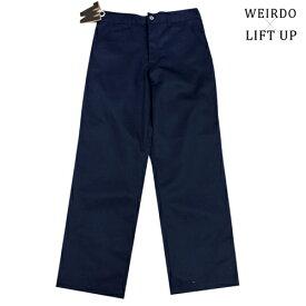 glad hand WEIRDO × LIFT UP W&L【リフトアップ】ワークパンツ チノパン 紺色 ネイビー