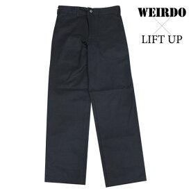 glad hand WEIRDO × LIFT UP W&L【リフトアップ】ワークパンツ チノパン ネイビー メンズ 17AW13