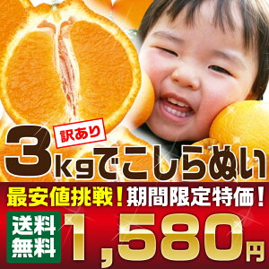 \楽天最安値に挑戦/【ワケアリデコしらぬい3kg】1,...