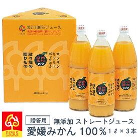 みかんジュース オレンジジュース みかんしぼり 温州みかんジュース 無添加 ストレート100% 1L 3本