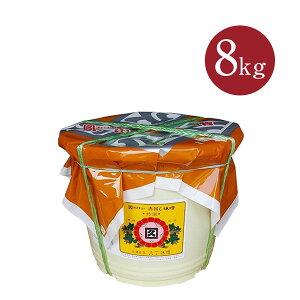 【カクキュー】赤出し味噌 特選噌 ポリ樽8kg【送料無料】(一部同梱不可)