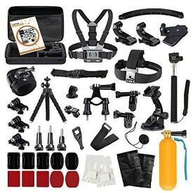 LyStar 51-in-1 Gopro アクセサリー セット アクションカメラ撮影用パーツ 日本語取説付属 for Gopro Hero 6/5/4/3+/3/2 Black Silver Session HERO+ LED SJCAM SJ7 SJ6 SJ5 SJ4