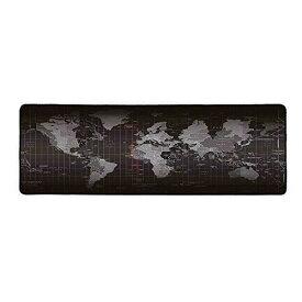 Cisicoマウスパッド大型 ゲーム向け ゲーミングマウスパッドを広く操作できる デスクパッド 世界地図で印刷 黒いエッジ(90cm×40cmx0.3cm)