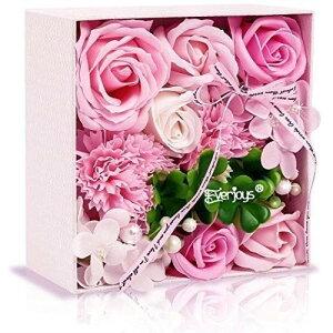 ソープフラワー 創意方形ギフトボックス 母の日 誕生日 記念日 先生の日 バレンタインデー 昇進 転居など最適としてのプレゼント ピンク