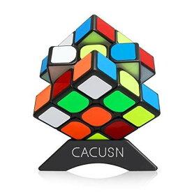 スピードキューブ 【磁石内蔵】 CACUSN M3.0 競技用キューブ 3x3x3 プロ向け ステッカー 世界基準配色 マグネット スタンド付き プロ向け