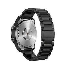 Kartice Compatible with Ticwatch Pro/ Galaxy Watch 46mm Gear S3 バンド 22mm高級ステンレス鋼バンド fossil Q EXPLORIST/Huawei Watch 2 Classic/Huawei Watch GT通用交換ベルト 調整工具付き (1-ブラック)