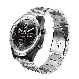 Kartice Compatible Ticwatch Pro/ Galaxy Watch 46mm Gear S3 バンド 22mm高級ステンレス鋼バンド fossil Q EXPLORIST/Huawei Watch 2 Classic/Huawei Watch GT通用交換ベルト 調整工具付き (1-シルバー)