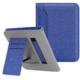 ATiC Amazon Kindle Paperwhite専用ケース 収納スロット付き ハンドストラップ付き 手帳型保護スタンドカバー(オートスリープ機能付き 2012/2013/2015/2016/マンガモデル適応) 布のインディゴ