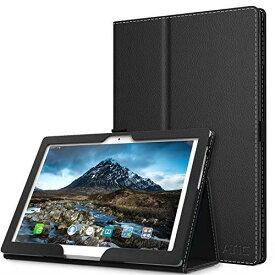 ATiC Lenovo Tab4 10 / Tab4 10 plus タブレットケース ビジネスカバー 保護ケース 落下防止 耐衝撃 耐久性 全面保護 スタンド仕様 高級感 Black