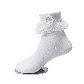 子供レース ソックス リボン 靴下 こども 靴下通販 女の子 キッズ 靴下 フォーマルソックス (6-8歳 15-17cm)