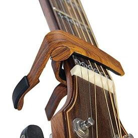 BestSounds カポタストワンタッチ アコギ用カポタスト ギターカポ guitar capo(木目)