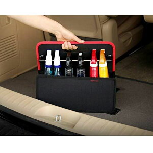KMMOTORS 取っ手付トランク整理ボックス (ブラック)
