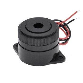 uxcell 連続音ブザー 音声ブザー 工業用アラーム 電子ブザー 警報ブザー 防犯アラーム 2線式 ブラックシェル DC 3-24V 10