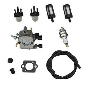 Stihl FS 120 200 020 202 200 250 300 350 刈払機・草刈機用 キャブレター 燃料フィルター スパークプラグ プライマーバルブ 燃料ライングロメット