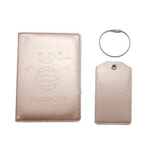 Anshin パスポートケース パスポートホルダー 荷物タグ スキミング防止 パスポートカバー トラベルウォレット 多機能収納ポケット クレジットカード 旅行 出張 航空券 エアチケット PUレザー