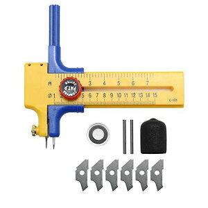 コンパスカッター 円切りカッター 円切り 穴あき防止プレート 替え刃 鉛芯 直径1〜15cm 紙 シート