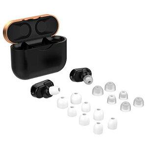 ソニー SONY WF-1000XM3 イヤーピース イヤホンキャップ シリコン 遮音性 音質向上 低反発 柔軟性 快適 水洗い可能 除菌 清掃簡単 イヤホン 交換用 アクセサリー 4サイズ 7ペア 14個入り (ホワイト)