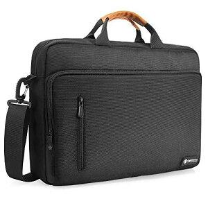 tomtoc 15-15.6型ノートパソコン ショルダーバッグ、15インチ MacBook Pro | Dell XPS 15 | Surface Book 2 | Chromebook | ウルトラブック メッセンジャーバッグ、 仕分け 大容量 PCバッグ、 通勤 通学、 ブラック
