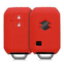 kwmobile ケース - シリコン キー保護 Suzuki - 車 鍵 プロテクション Suzuki 2-ボタン 車のキー Keyless Go 用 赤色